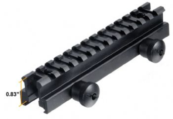 "Leapers .83""  21mm High 13-slot Medium Full Size Riser Mount weaver/picatinny base STANAG compatible - MNT-RS08L"